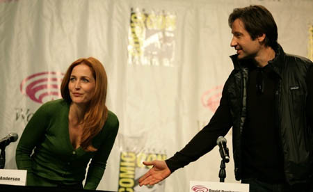 Anderson and Duchovny atWondercon