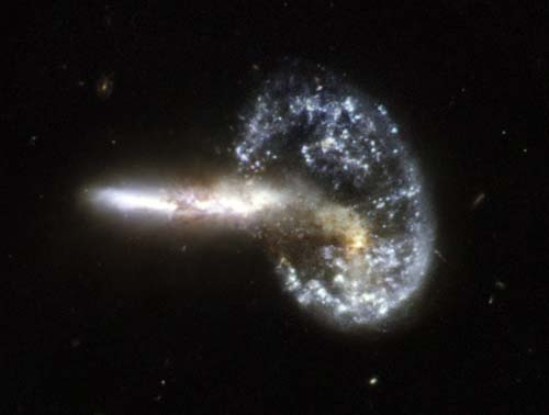Hubble Photo of Galaxy Collision